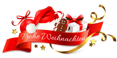 Weihnachtslogo - Frohe Weihnachten