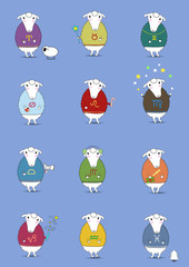 Christmas sheeps