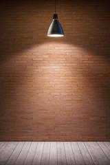 empty room with lamp