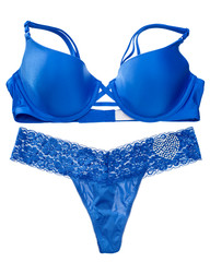 Blue lingerie set