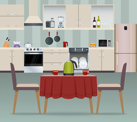Kitchen interior poster