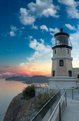 Garden Poster Lighthouse Split Rock Lighthouse Sunset with Moon