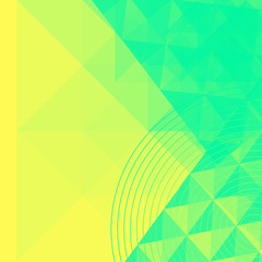 Abstract Geometric Yellow And Green Background