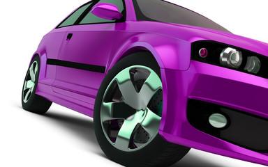 pink car close-up