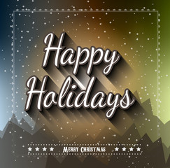 Christmas Greeting Card for happy Holiday flyers