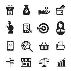 Business icons. Vector format