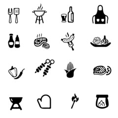 Barbecue Grill Yellow Silhouette icon