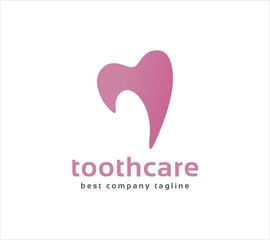 Abstract vector dental tooth logo icon concept. Logotype