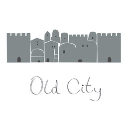 Middle East, Ancient, Old City,  Illustration