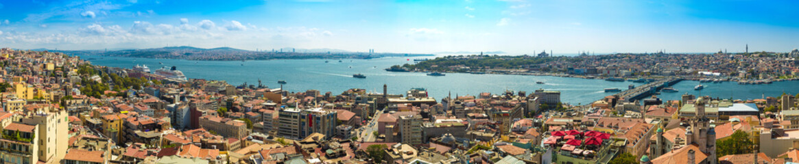Printed kitchen splashbacks Turkey Istanbul panoramic view from Galata tower. Turkey