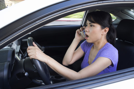 Talking on the phone while driving