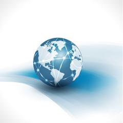 communication world & technology business  flow motion isolate