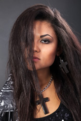 Beauty Portrait. Curly Hair. Beautiful woman