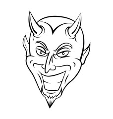 Devil Head Warrior vector illustration
