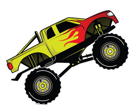 Monster Truck Cartoon Photos Royalty Free Images Graphics Vectors Videos Adobe Stock