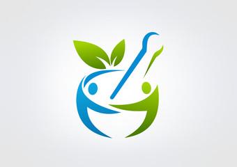 Logo Parmacy busines Healty icon Medicin