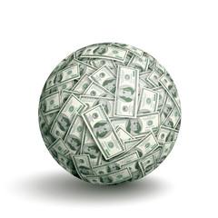 Vector dollar ball