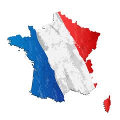 francja flaga wektor