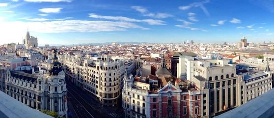 Türaufkleber Madrid Madrid von oben