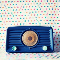 Vintage blue radio
