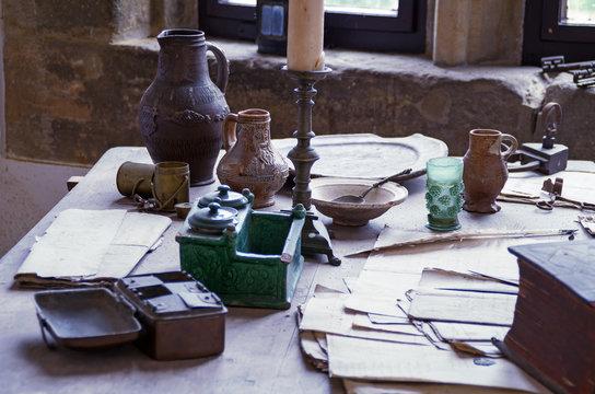 Tisch im Mittelalter