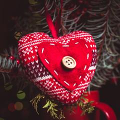 Handmade knitted heart