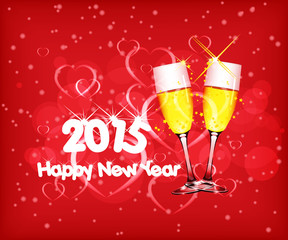 Happy new year 2015 with wine