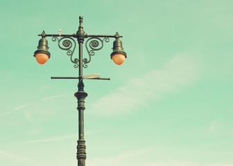 Lamp in a beach boardwalk