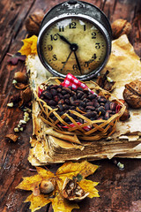 broken clock and forest attributes autumn