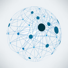 Wall Mural - Abstract global network | EPS10 vector design