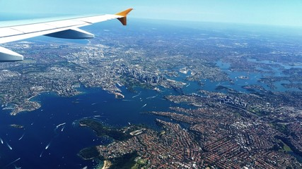 Fototapete - Vue aérienne de Sydney, Australie