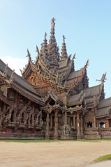 Details of Sanctuary of Truth temple,  Pattaya, Thailand