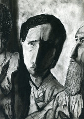 Original charcoal drawing on paper.