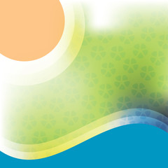 Sun and Waves Background