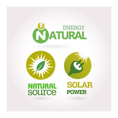 Green - Ecology - Power - Renewable icon set