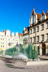 Wall Mural - Main Market Square, Wroclaw, Silesia, Poland