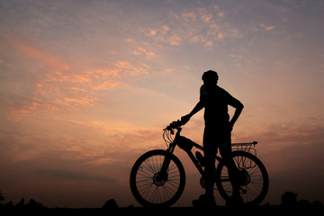 bicycle in sunset
