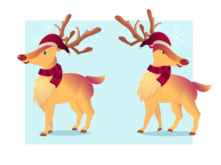 reindeer cartoon vector illustration