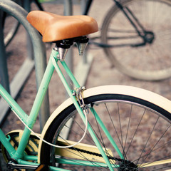 Vintage turquoise bicycle