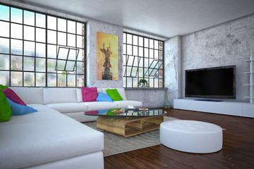 luxurios apartment - living room - shot 3