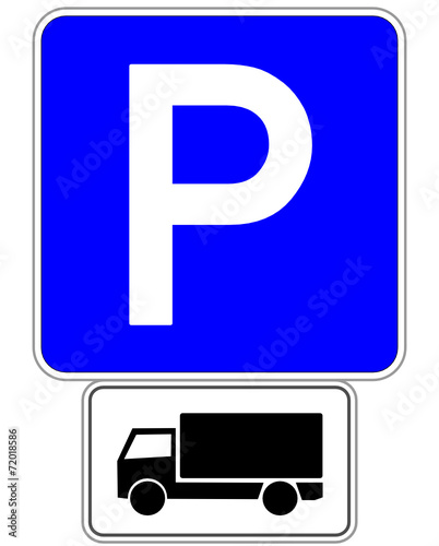 lkw schild parkplatz 141023 svg04 stockfotos und. Black Bedroom Furniture Sets. Home Design Ideas