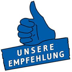 tus115 ThumbUpSign tus-v19 - Unsere Empfehlung - blau g2215