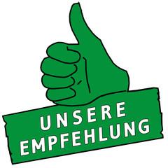 tus117 ThumbUpSign tus-v19 - Unsere Empfehlung - grün g2217