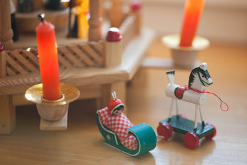 Christmas decoration rustic toys