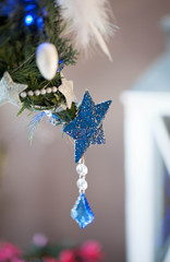 Christmas decoration -blue star