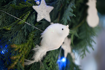 Christmas decoration - white bird