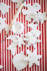white handmade christmas decoration