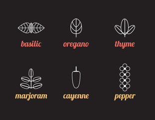 Herbs icons