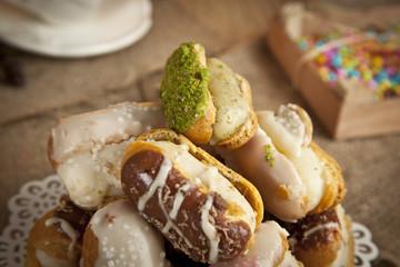 German Dessert fruit Cream Cake
