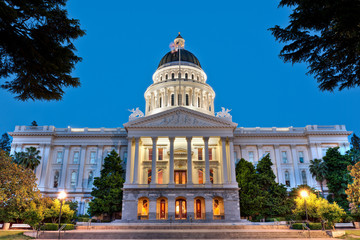 California State Capitol Building at Dusk Wall mural